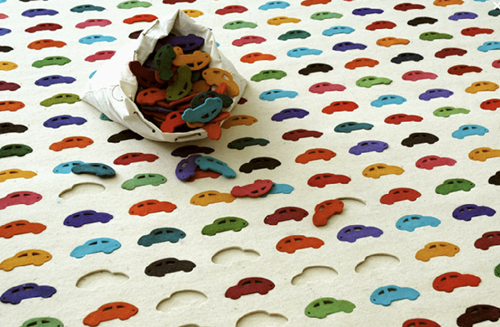 alfombra coches Alfombras infantiles interactivas Puzzle
